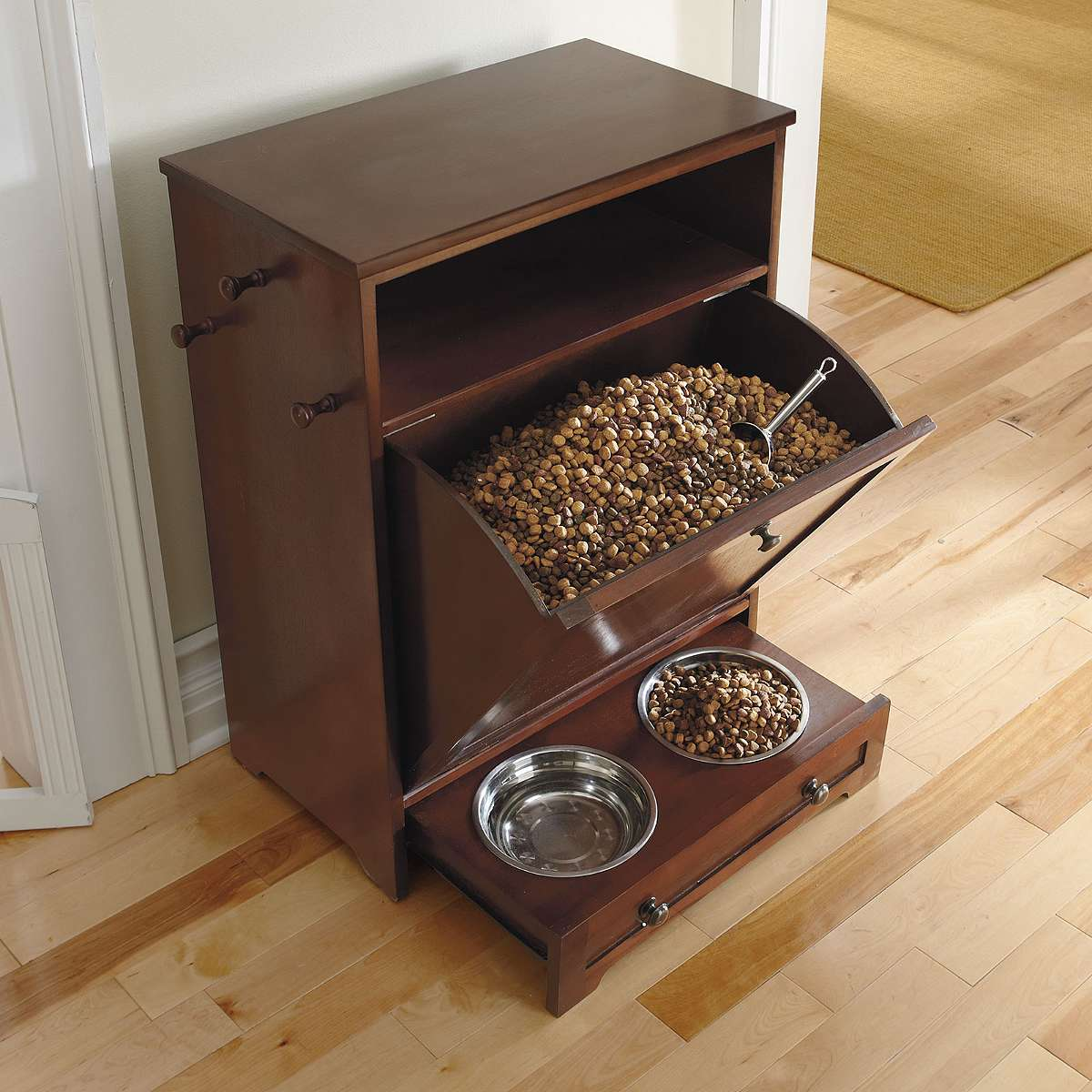 Must Have Grandin Road Pet Feeder Station Bark Meow